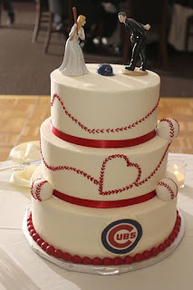 Chicago Cubs Wedding Cake