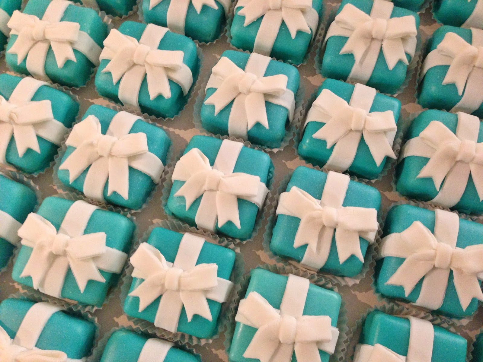 Cakes by Mindy  Large Tiffany Box Petit Fours 1c778a2b9