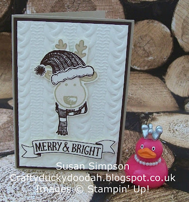 Stampin Up! UK Independent  Demonstrator Susan Simpson, Craftyduckydoodah!, Cookie Cutter Christmas Bundle, Jolly Friends Bundle, Stitched with Cheer, Cable Knit Dynamic TIEF, Supplies available 24/7,