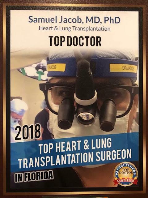 """إسماعيل الخطيب """" الطبيب الجراح الحاصل على جائز ة أفضل طبيب في زراعة القلب والرئة في ولاية فلوريدا 2018"""