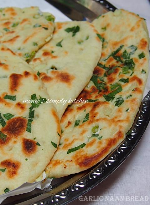 cara membuat garlic naan bread