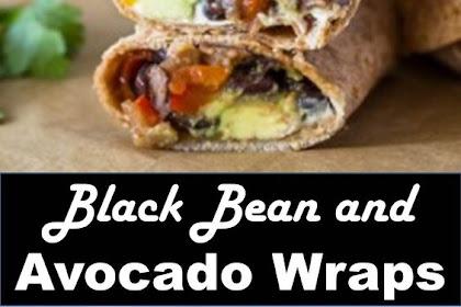 BLACK BEAN AND AVOCADO WRAPS