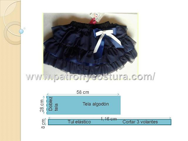 www.patronycostura.com/falda de volantes tul