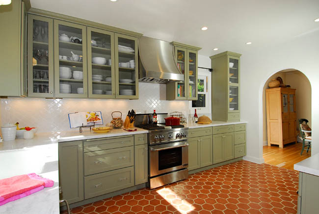 Spanish Revival Kitchen Cabinets
