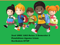 Soal UKK/ UAS Kelas 3 PAI Semester 2/ Genap KTSP