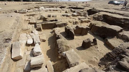 Ruínas do templo de Ramses no Egito