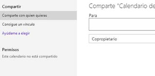 Compartir calendario Outlook