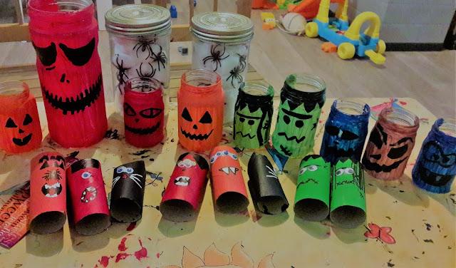 bricolage activité lanternes monstres hanté halloween enfant