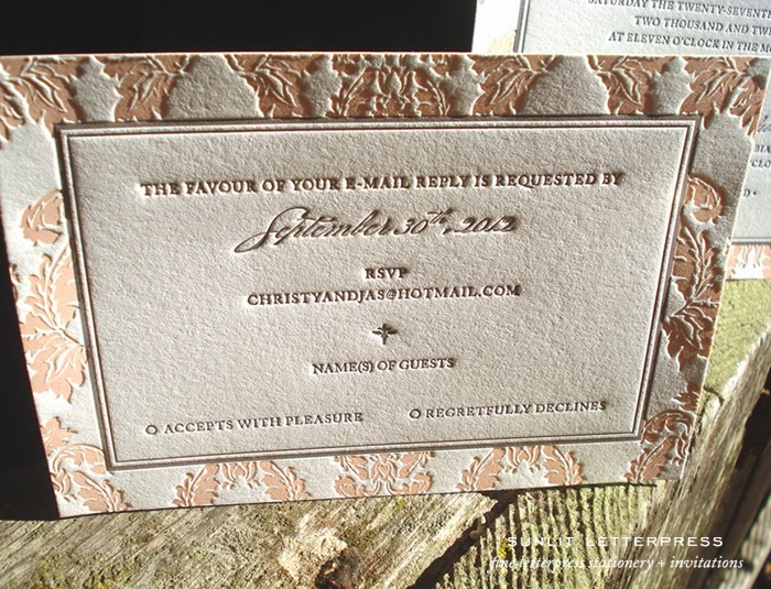 Wedding Invitations In Canada: Fine Letterpress Stationery