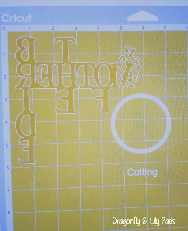Here is an example of a Mirror Image HTV design Cutting on Cricut Maker