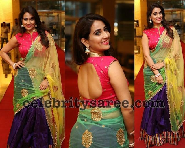 Manjusha Designer Half Saree