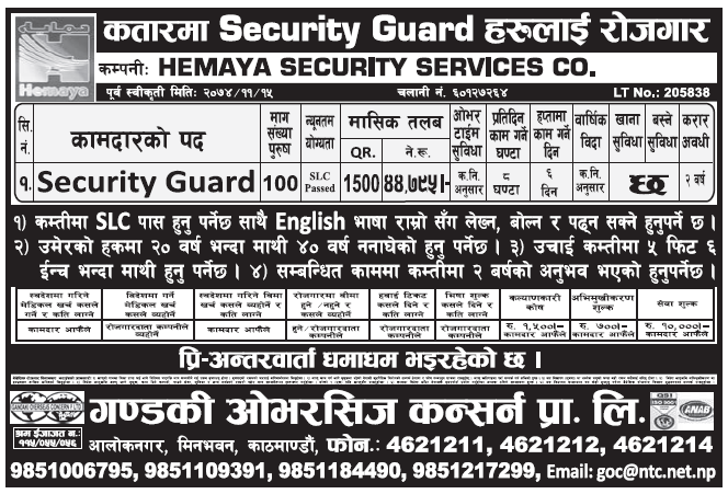 Jobs in Qatar for Nepali, Salary Rs 44,795