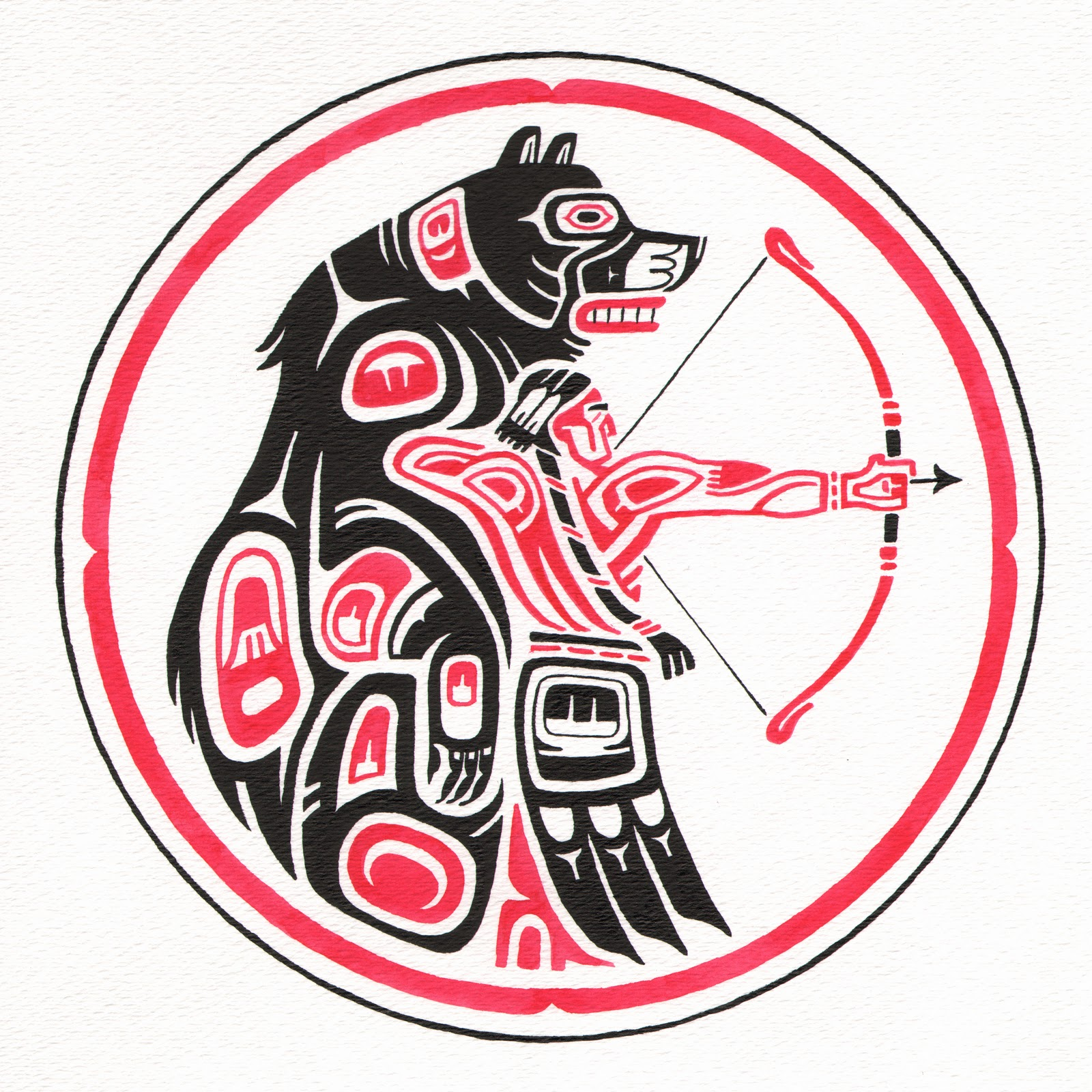 Northwest Native American Bear Art