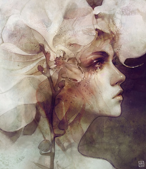 """Petal"" por Anna Dittmann   imagenes surrealistas lindas   dibujos   sad emotional drawings"