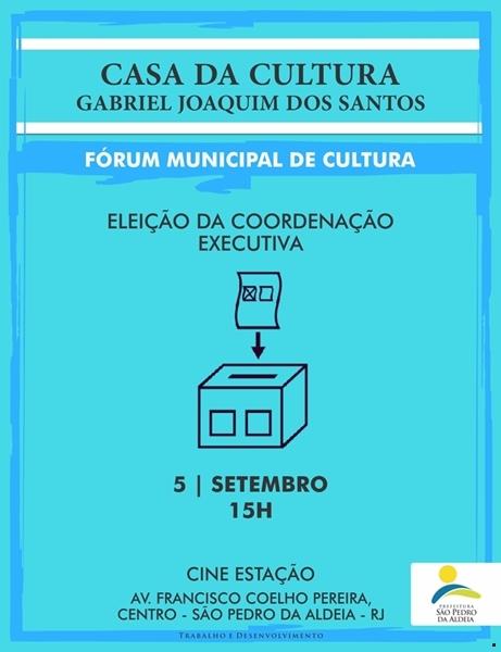 Fórum Municipal de Cultura de São Pedro da Aldeia elege sua coordenação executiva nesta quarta-feira (05/09)