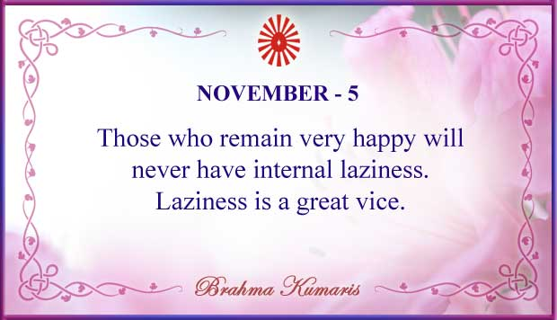 Thought For The Day November 5
