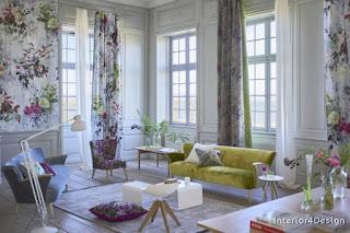 Inscriptions Of Roses In The Interior Design