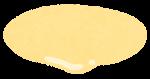 ハンバーガーの具材のイラスト(マヨネーズ)