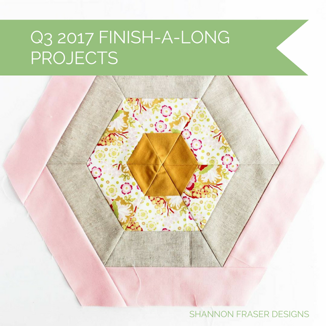 Modern Quilting Works in Progress | Shannon Fraser Designs | Hexies | Quilting Fabrics | Floral | Anna Maria Horner | Kona Cotton | Essex Linen