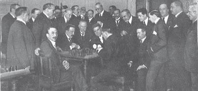 Gran torneo entre los socios del Casino de Madrid y el Círculo de Bellas Artes en 1919