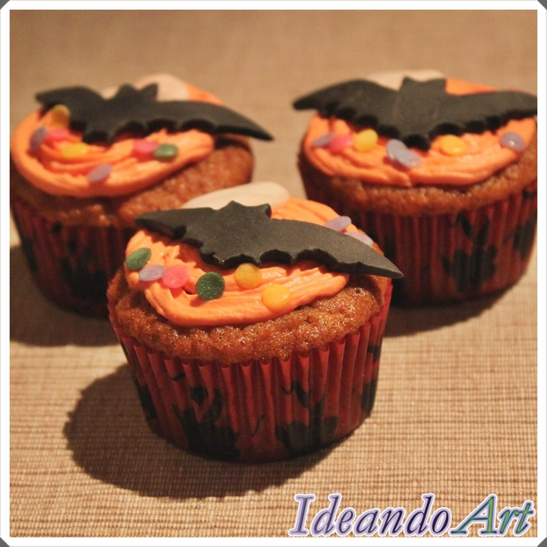 Cupcakes murciélagos Halloween