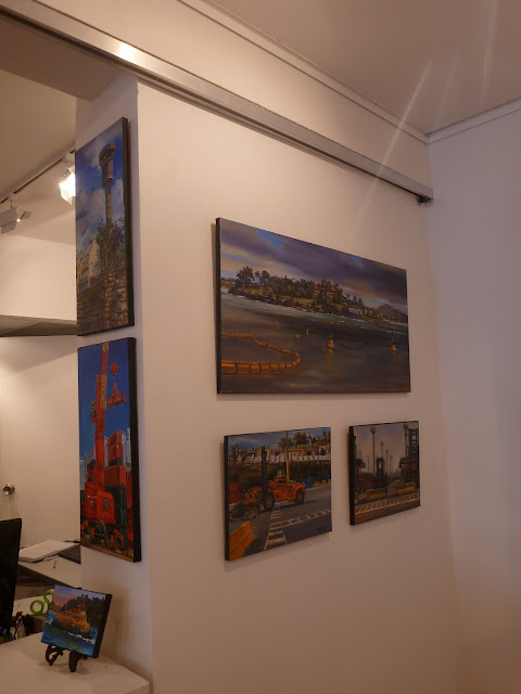 plein air oil paintings of Barangaroo by artist Jane Bennett at the Frances Keevil Gallery