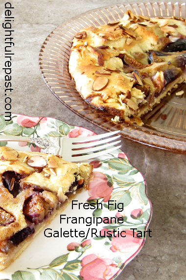 Fresh Fig Galette - Rustic Tart with Figs and Frangipane - In an Easy Shortcrust Pastry / www.delightfulrepast.com