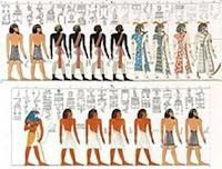 الأمازيغ تميزوا في الرسم الفرعونى بالأوشام والريش فوق الرأس