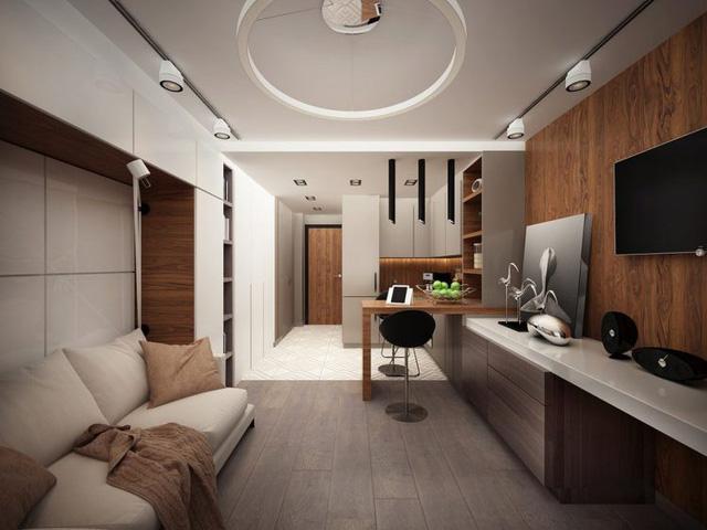Không gian thiết kế căn hộ 25m2
