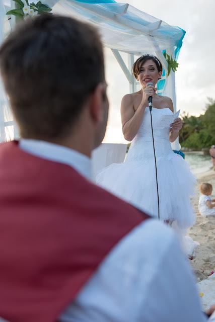 guadeloupe plage cérémonie laïque