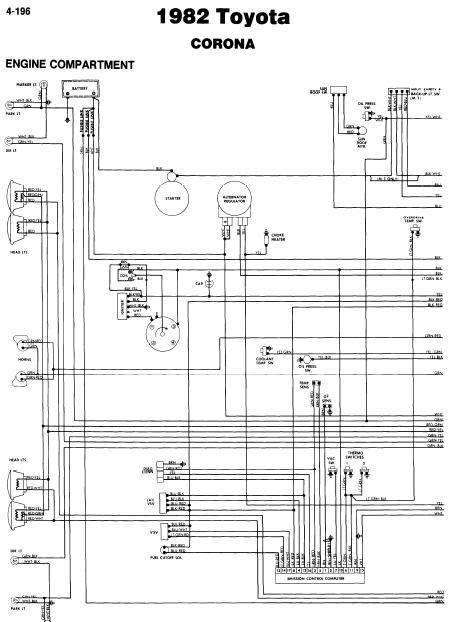 repairmanuals: Toyota Corona 1982 Wiring Diagrams