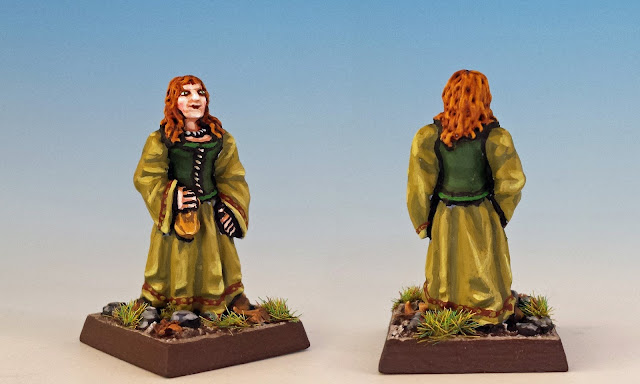 Lorabeth Bogel, painted miniature for Terror of the Lichemaster