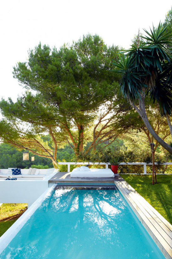 A contemporary summer house in Costa Brava, Spain, via Marie Claire Maison. #pool