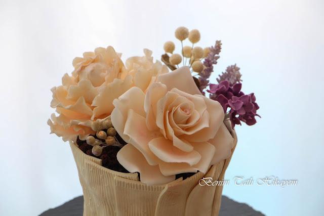 çiçekli pasta