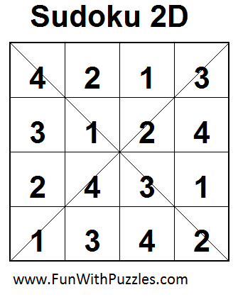 Sudoku 2D (Mini Sudoku Series #10) Solution