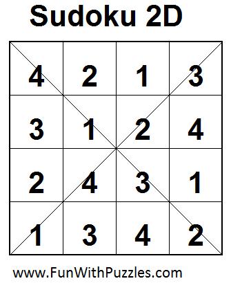 Sudoku 2D (Mini Sudoku Series #10) Solution