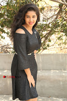 Telugu Actress Pavani Latest Pos in Black Short Dress at Smile Pictures Production No 1 Movie Opening  0226.JPG