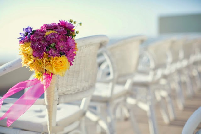 decoracion para boda en el mar