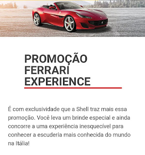 Promoção Ferrari Experience 2019