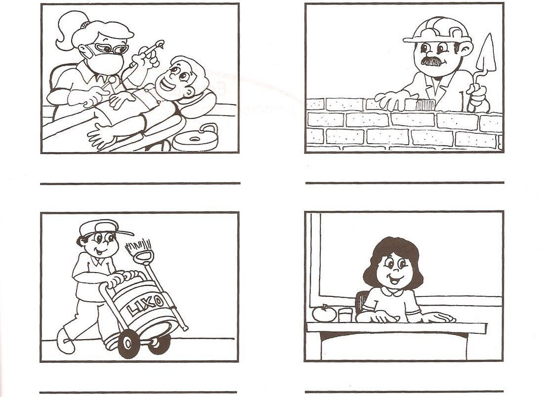 Recursos Para Mi Clase NiÑos Distintas Razas Ficha: Recursos Para Infantil: Fichas Para Aprender Los Oficios