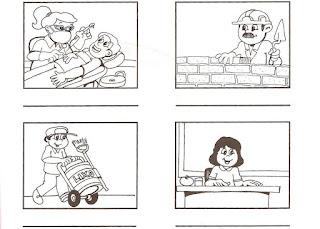 Fichas de infantil y primaria: Las profesiones