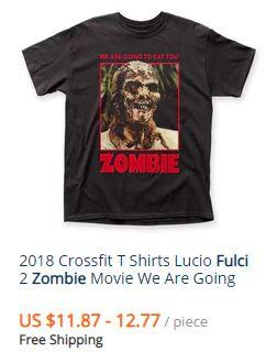 magliette lucio fulci zombie