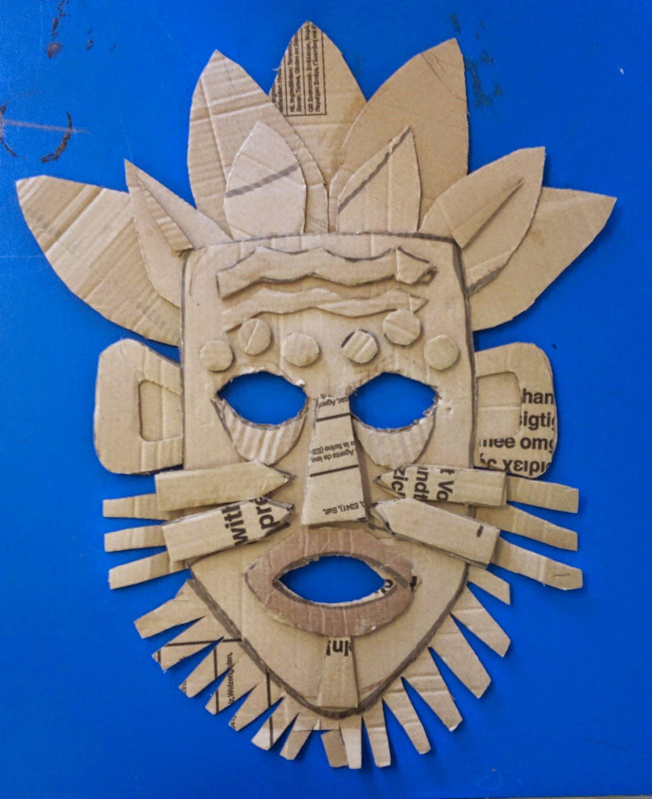 Diy Cardboard Masks: Art. Paper. Scissors. Glue!: African Mask
