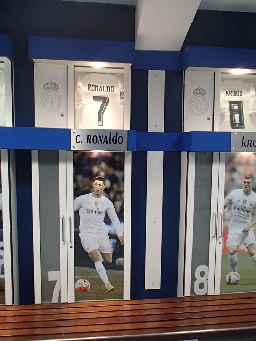 Szafka Cristiano Ronaldo - fot. Tomasz Janus / sportnaukowo.pl