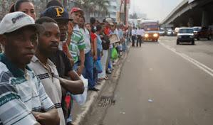 Resultado de imagen para Hubieres paraliza el transporte de pasajeros en la capital