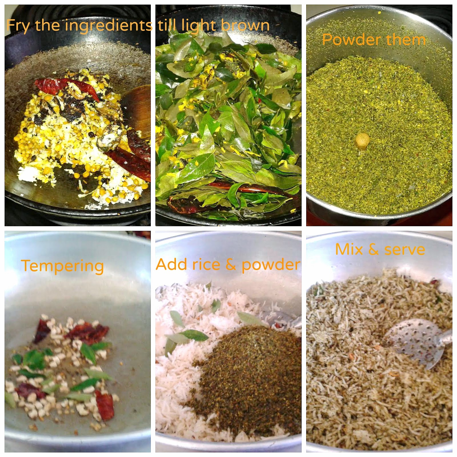 images of Curry Leaves Rice / Kariveppilai Rice / Karuveppilai Sadam Recipe / Karivepaku Annam Recipe