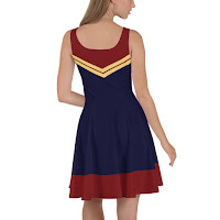 Design Inspired by Captain Marvel Costume Cosplay by Brie Larson