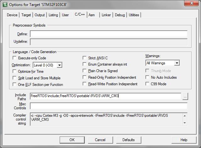 Embedded System Engineering: ARM Cortex-M3 (STM32F103