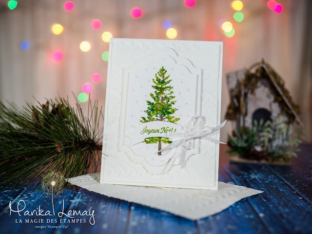 Carte de Noël Stampin'Up! créée avec le jeu d'étampes Saison des fêtes
