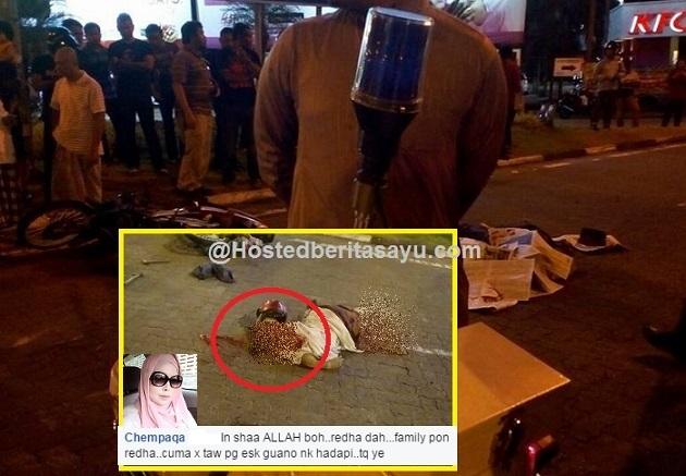 Al fatihah buat Ayah .. Angkara lori langgar lampu merah ayah maut parah dikepala (5 Gambar)